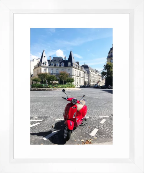 Paris Moped -