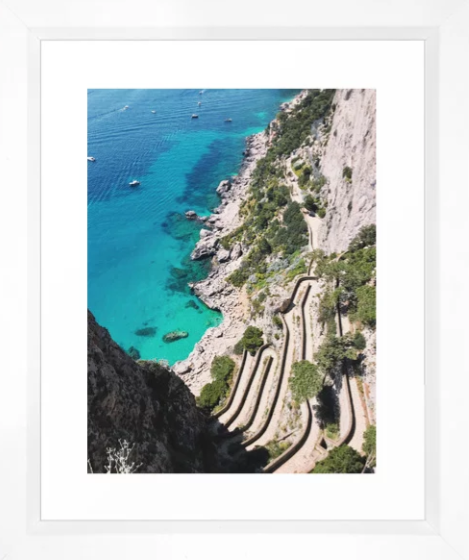 Winding Road on Capri -