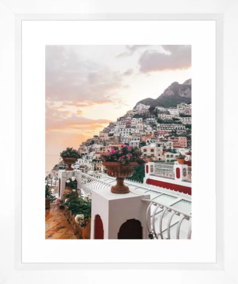 Amalfi Coast Positano Sunset -