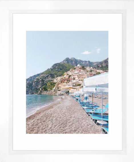 Heather Rinder Amalfi Coast Beach Framed Print
