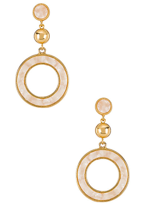 Ettika Drop Hoop Earrings