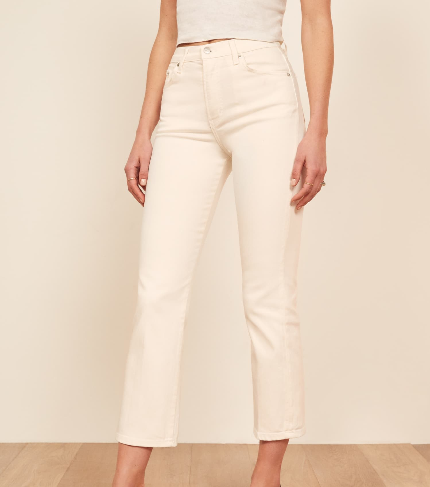 Reformation Liza High Waisted Crop