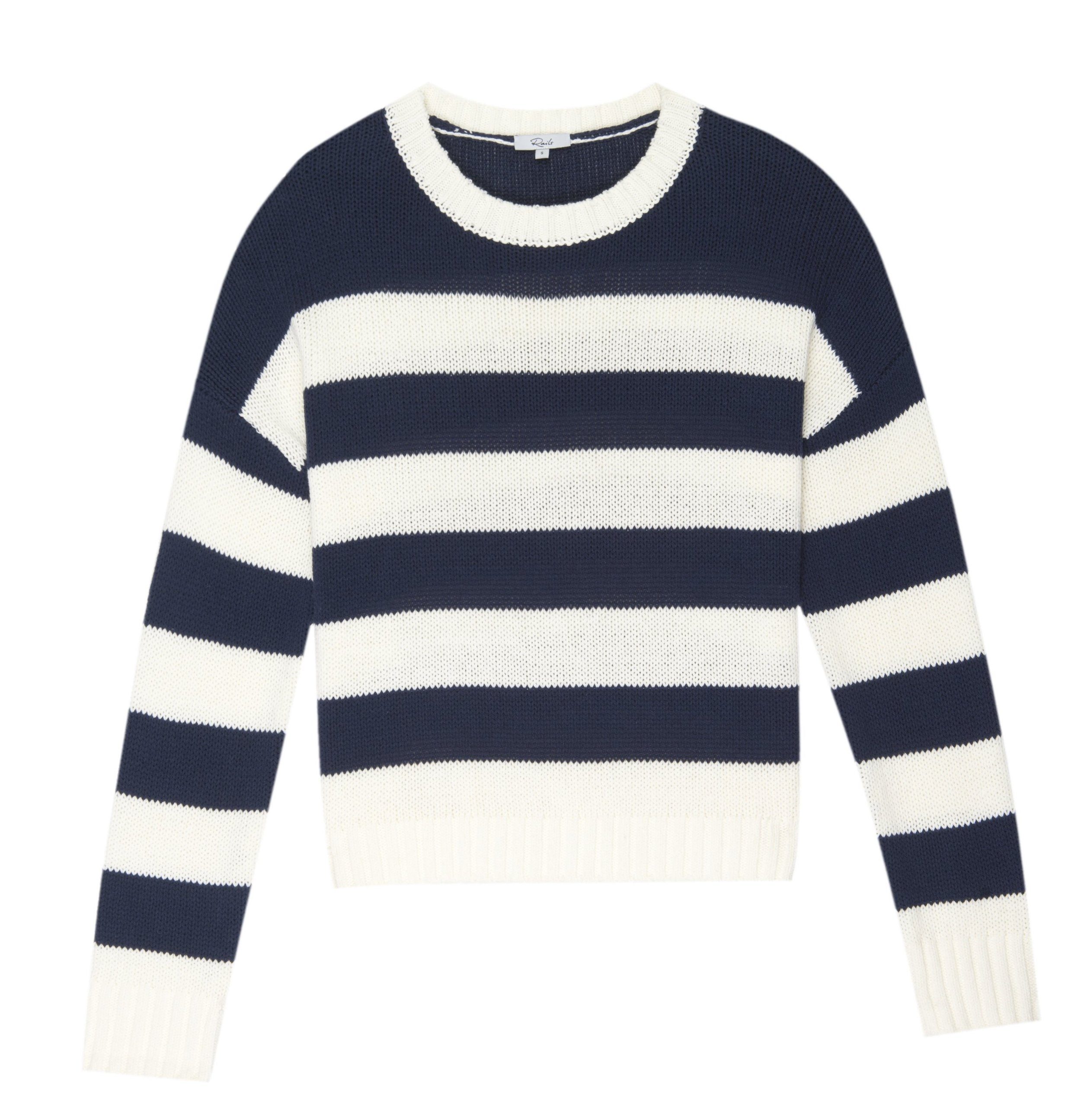 Rails Navy Stripe Sweater