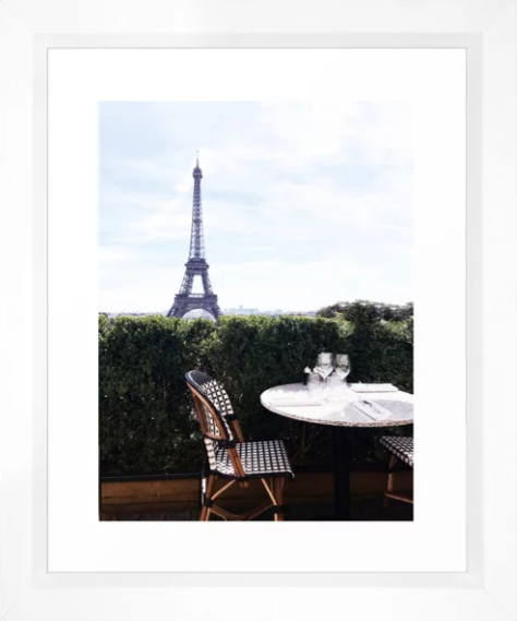 Heather Rinder Breakfast at the Eiffel Tower Framed