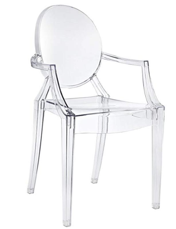 Modway Casper Modern Acrylic Dining Armchair in Clear