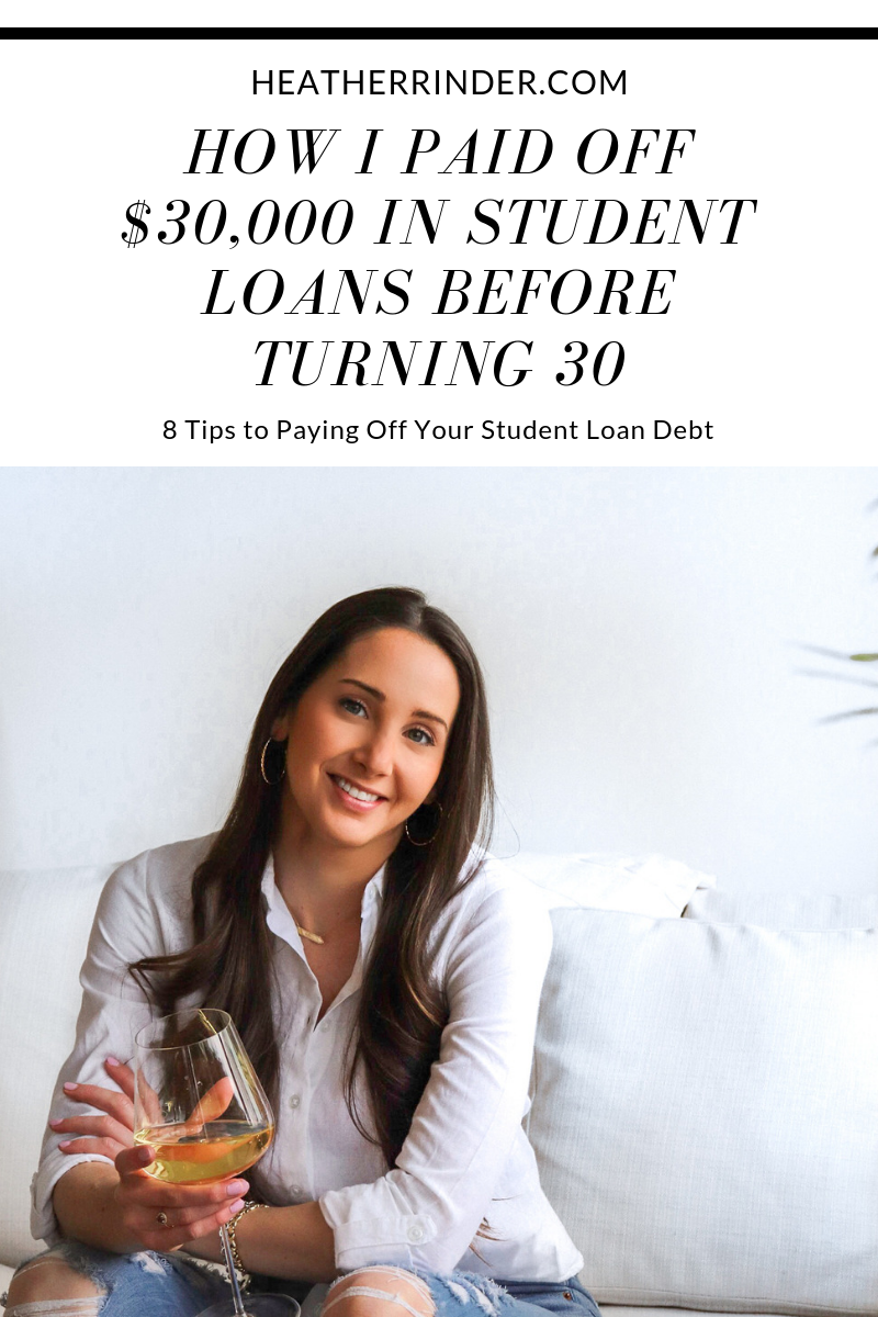 How to Pay Off $30,000 in Student Loans Before Turning 30
