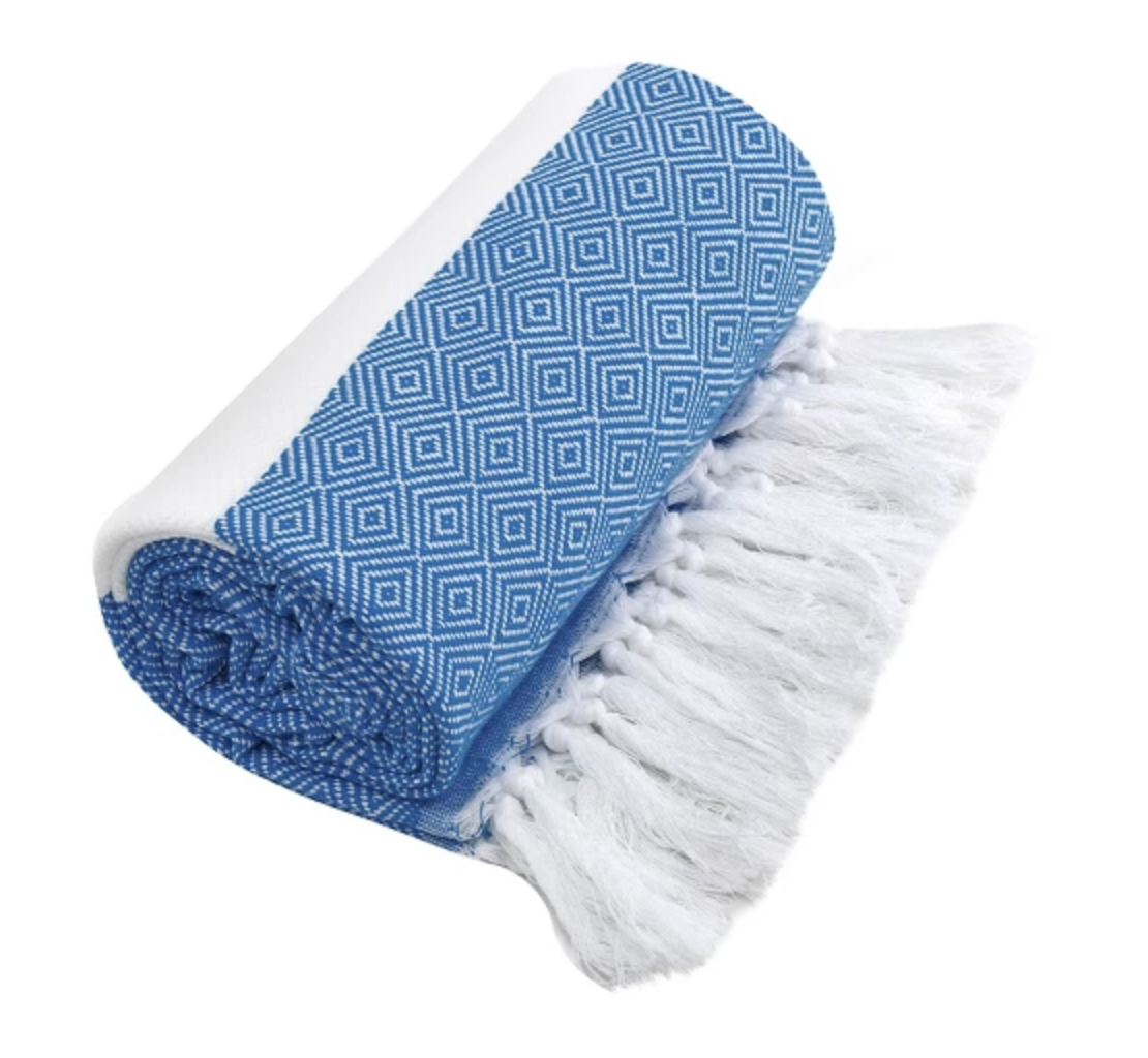 Diamond Weave Target Beach Towel