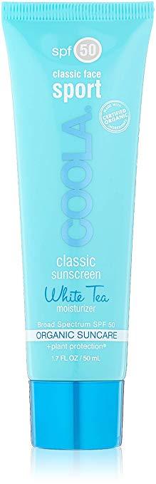 COOLA Suncare Classic Sport Face SPF 50 Sunscreen, White Tea