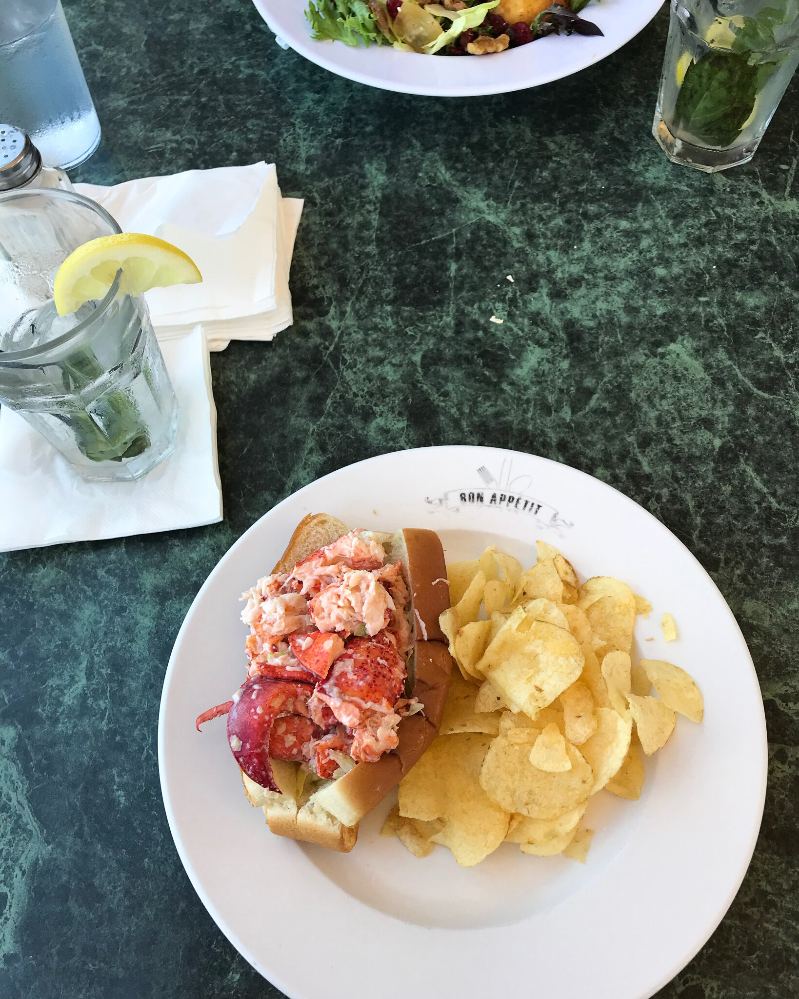 Lobster Roll in Oqunquit Maine