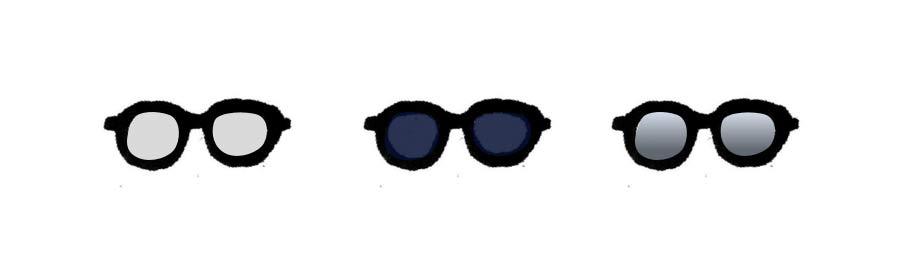 An illustration of different lenses for the glasses