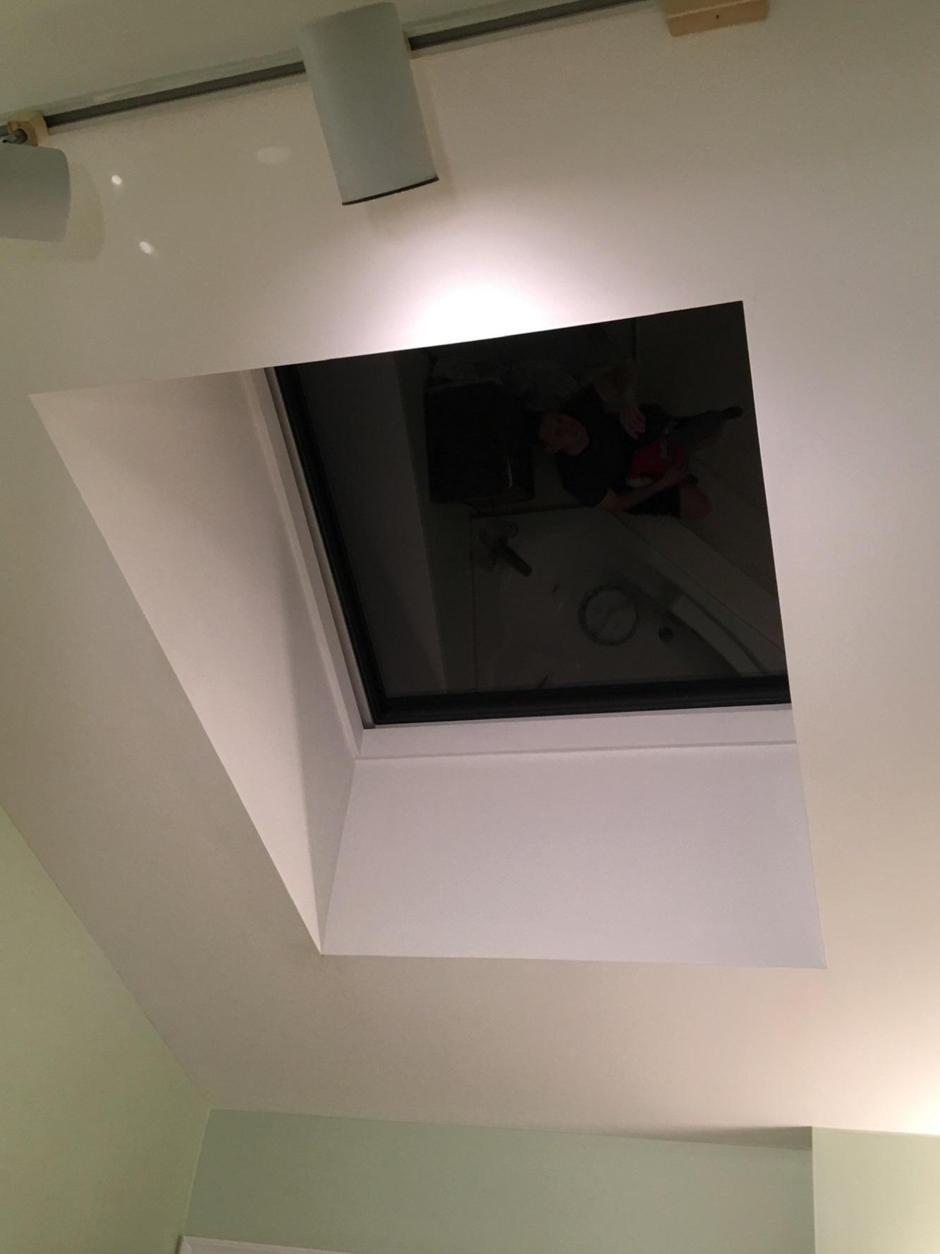 Velux skylight - inside