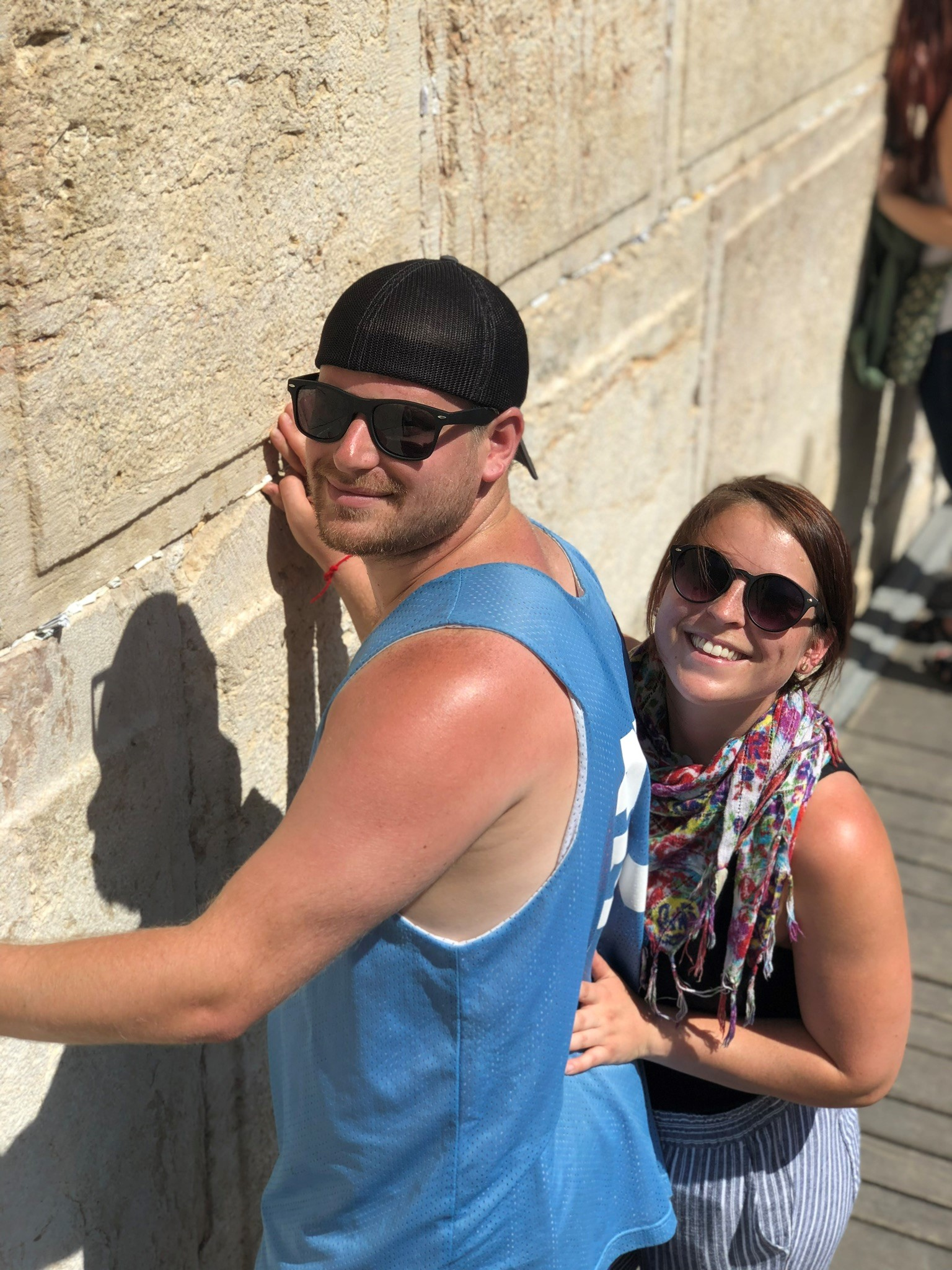 """""""Samantha never really felt a connection at the Western Wall until we stood there together. It was amazing for me to know my presence and love for her helped her connect to our holiest place on Earth."""""""