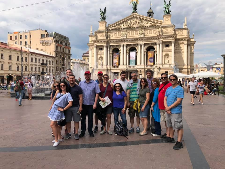 Lviv Opera House - Thursday's city tour featured a stop at the Lviv Theatre of Opera and Ballet. Did you know the Opera House opened almost 100 years ago, on October 4, 1900?