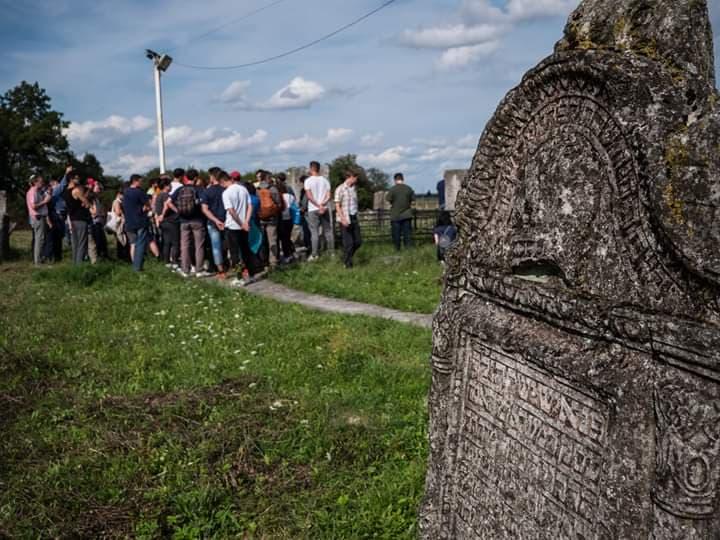 Belz Hasidic Cemetery - Volunteers had the opportunity to pay respects at the Belz Hasidic Cemetery in Belz, Ukraine, outside of Lviv.
