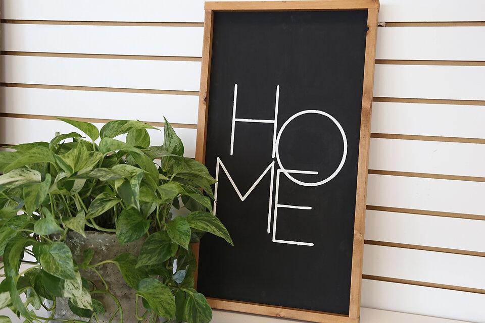 Modern Home Sign