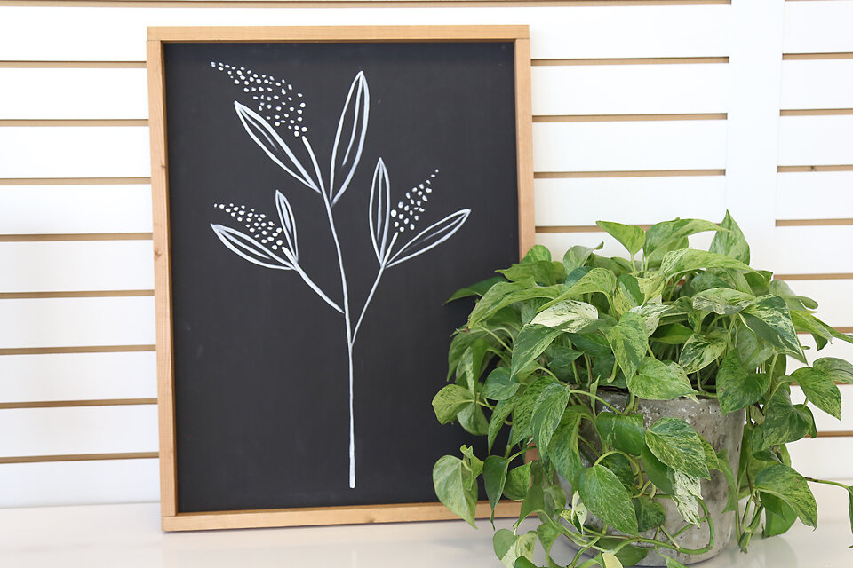 Hand Painted Botanical Sign