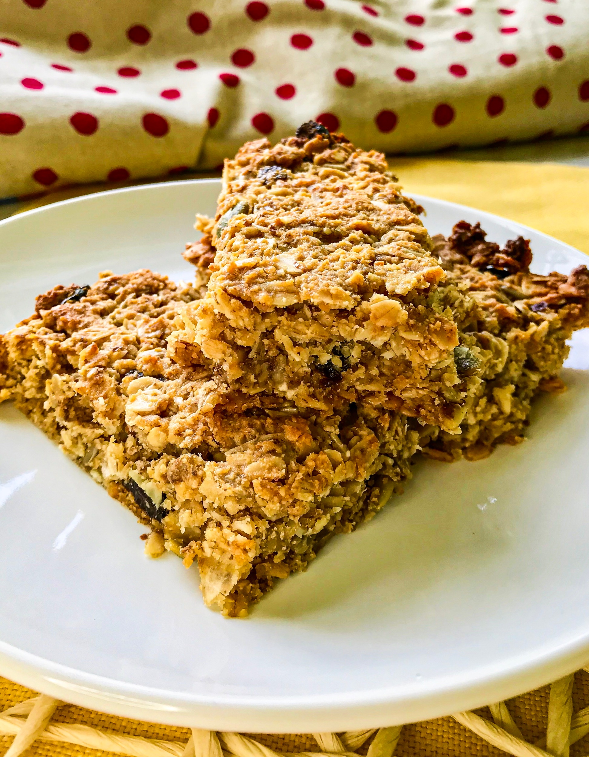 Healthy Granola Blueberry Power Bars