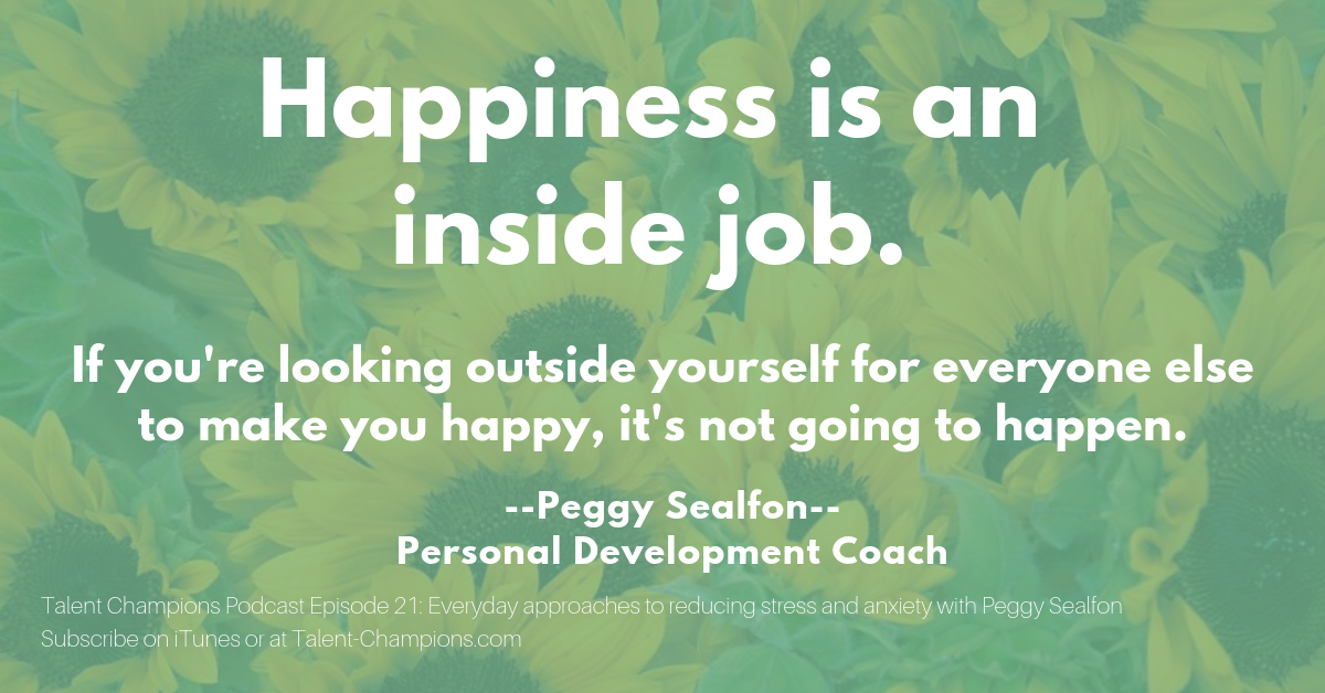 Peggy Sealfon Happiness is an inside job