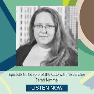 Sarah Kimmel episode 1 Role of the CLO