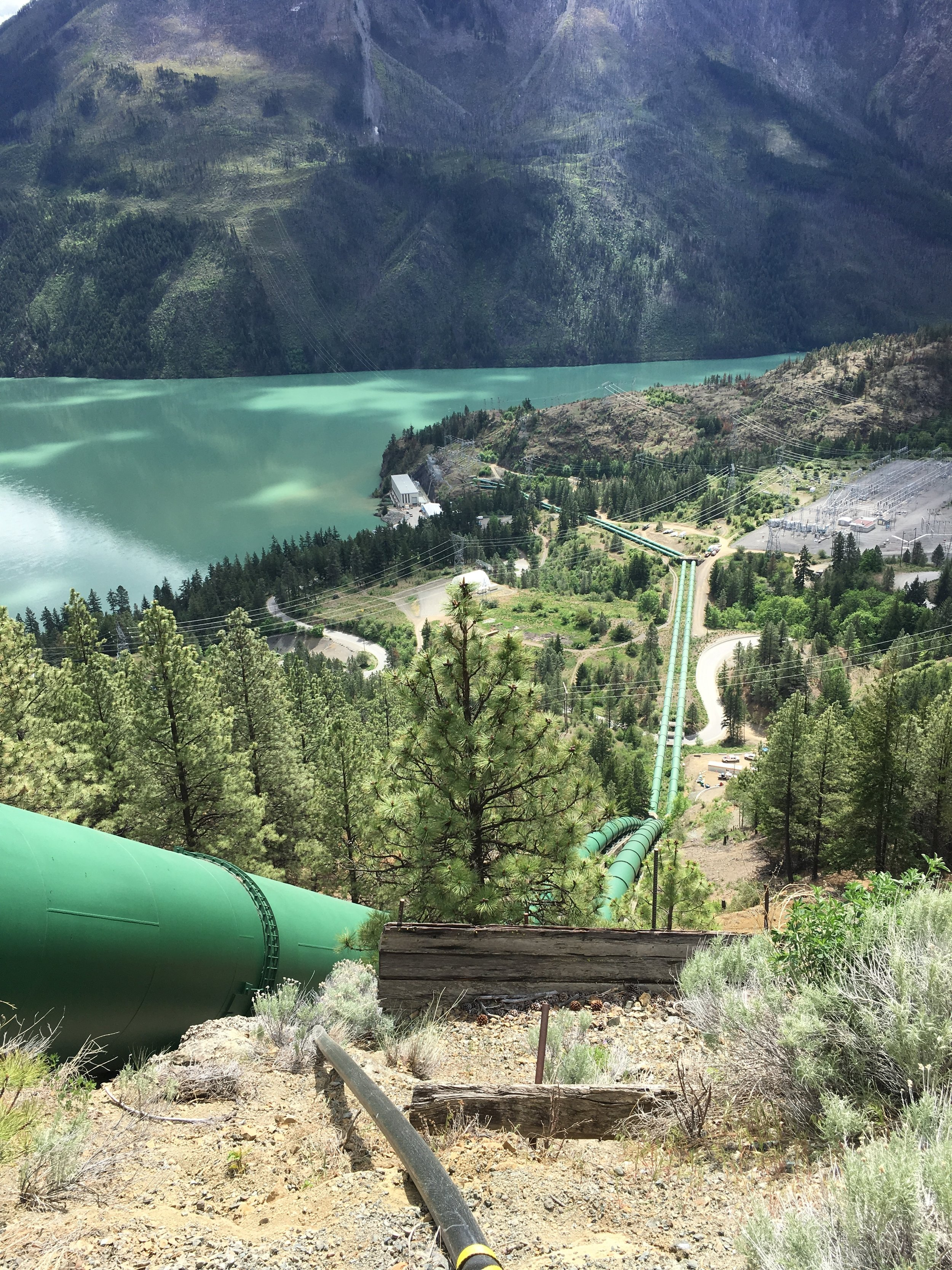 Looking Downstream from PIV @ Penstock Project in Interior of British Columbia, Canada (2018)