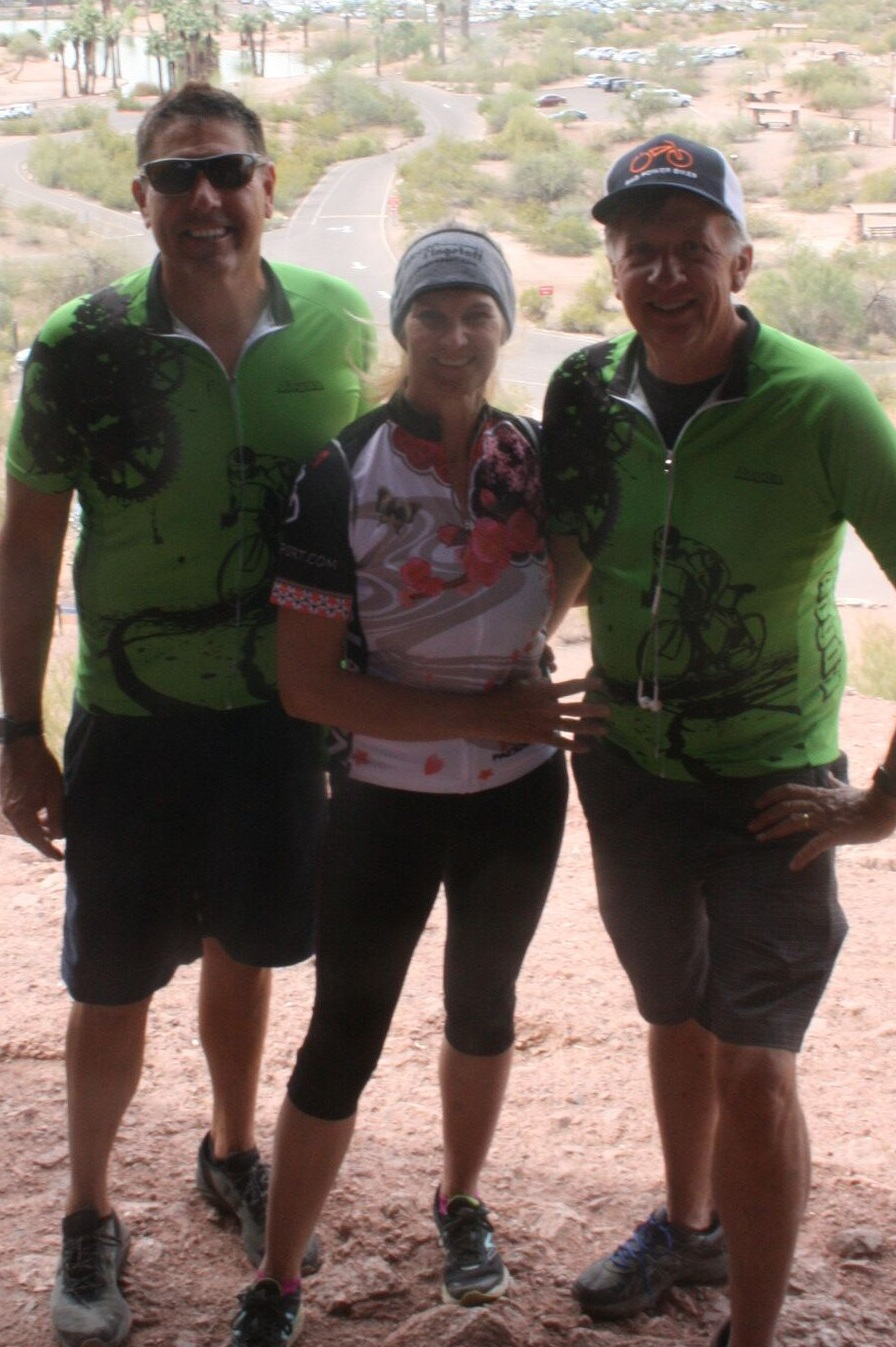John, Marsha, and Todd at Papago Mountain