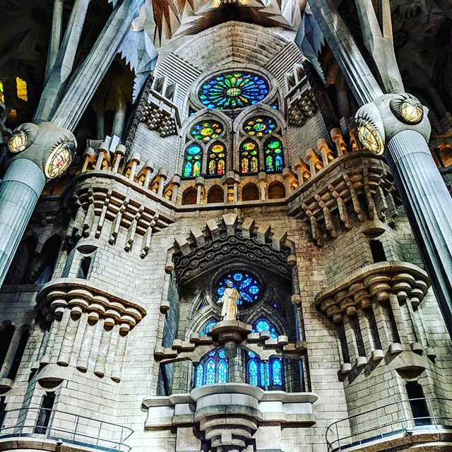 I'm normally not one who is big on architecture or history, but La Sagrada Familia is way too breathtaking to not just stare in awe of it and be amazed at how much thought went into every detail.  If you ever find yourself in Barcelona, it's a must see!