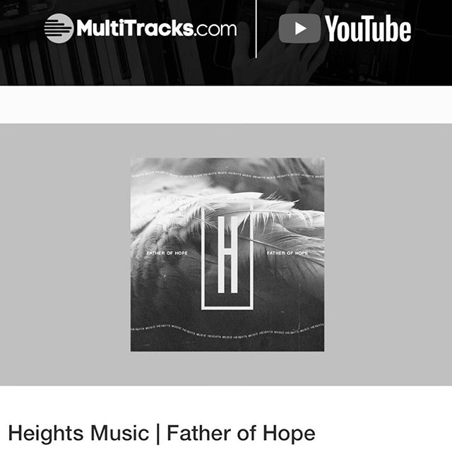 """Father of Hope"" is available everywhere today, including the original MultiTrack Masters/Chord Charts! Special thanks to @multitracks & @praisecharts for featuring the album and providing leaders around the world with resources to further the kingdom! We are honored to partner with you! . . . #newmusic #newalbum #worshipmusic #worshipleader #resources #church #kingdom"