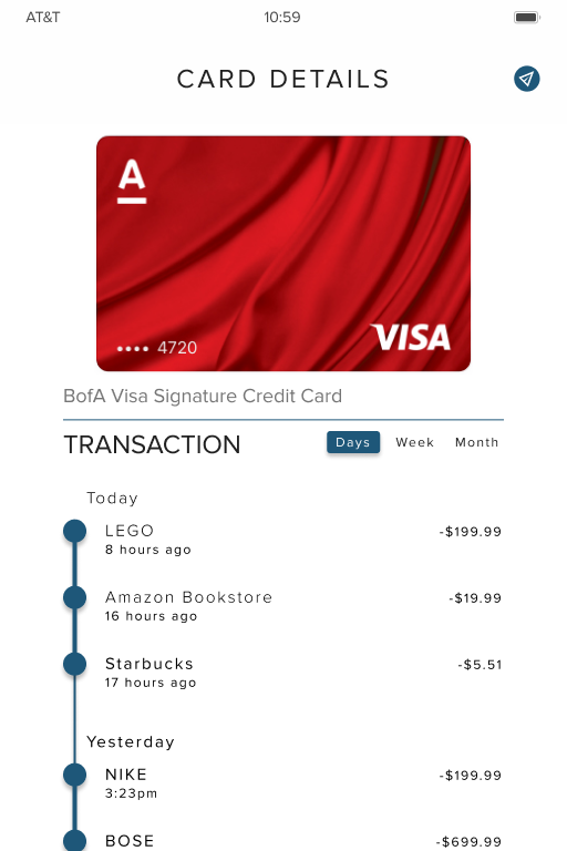 Card Details w/ Money-Transfer Top-right