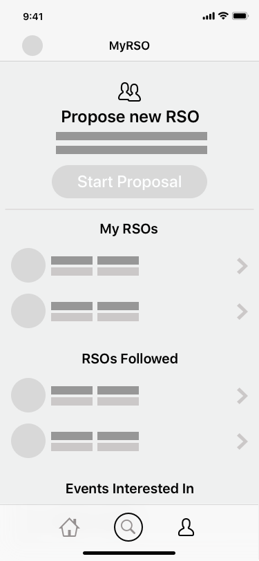 MyRSO Page