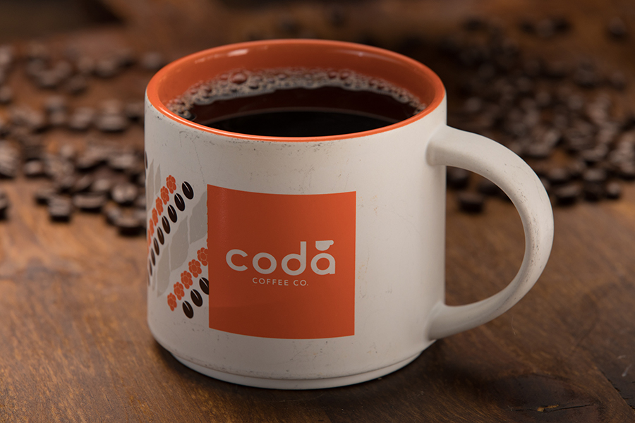 mug of coda coffee