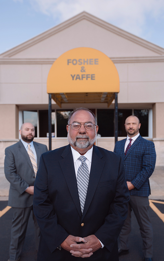 Foshee & Yaffe attorneys at law in front of office building