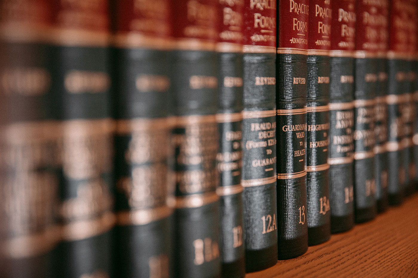 up close shot of law books