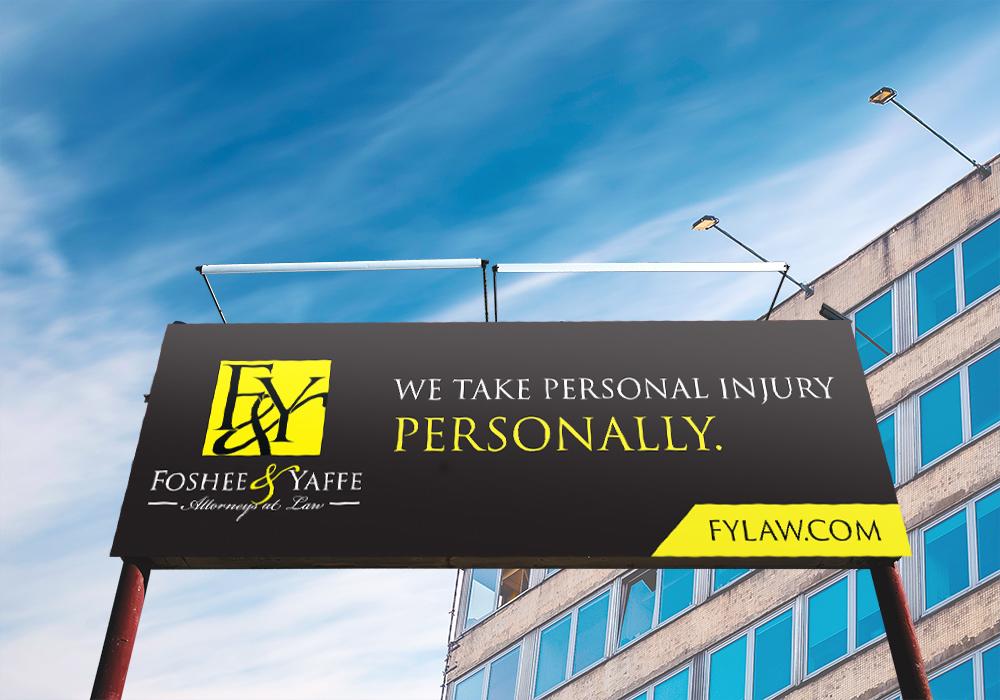 Foshee & Yaffe billboard in city
