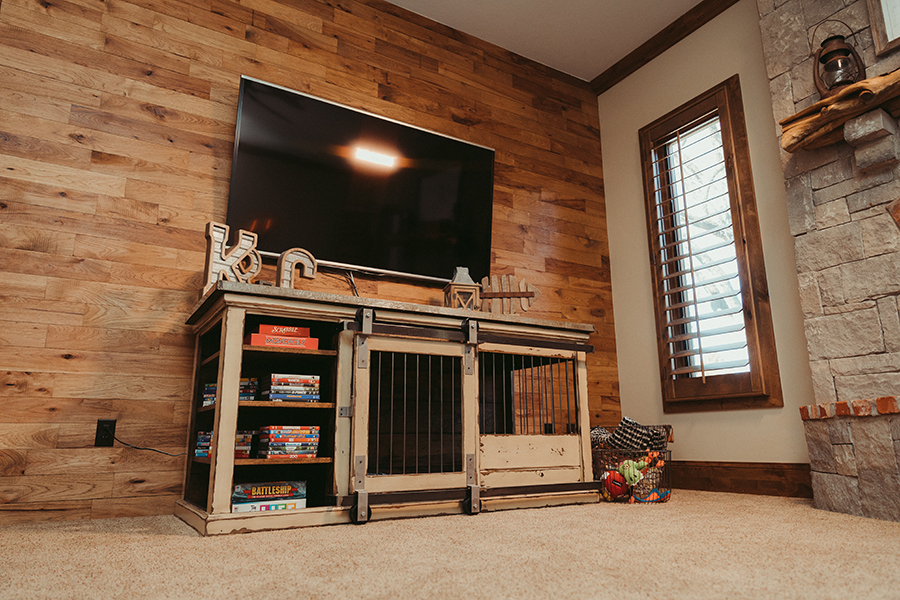 tv stand kennel