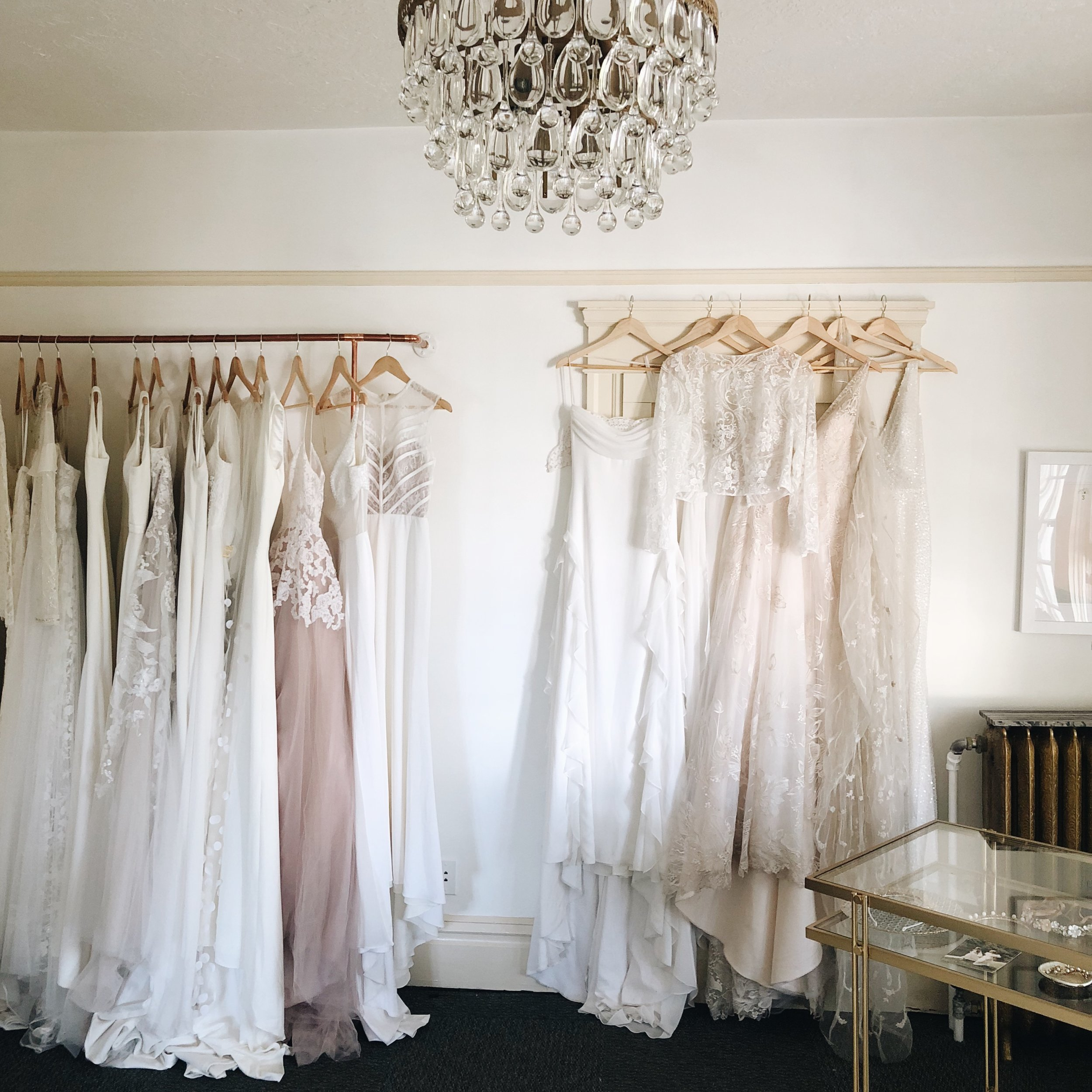 You'll Feel Comfortable and Calm - We've heard so many times already that brides are nervous to start wedding dress shopping or even coming to their fitting… but after a few minutes at Élsca Bride, they are feeling calm and so HAPPY. All the nervousness fades away. We at Élsca, genuinely care about your wedding and your visit with us, there's a good chance we're going to be friends after your fitting anyway… so don't be shy and come hang!