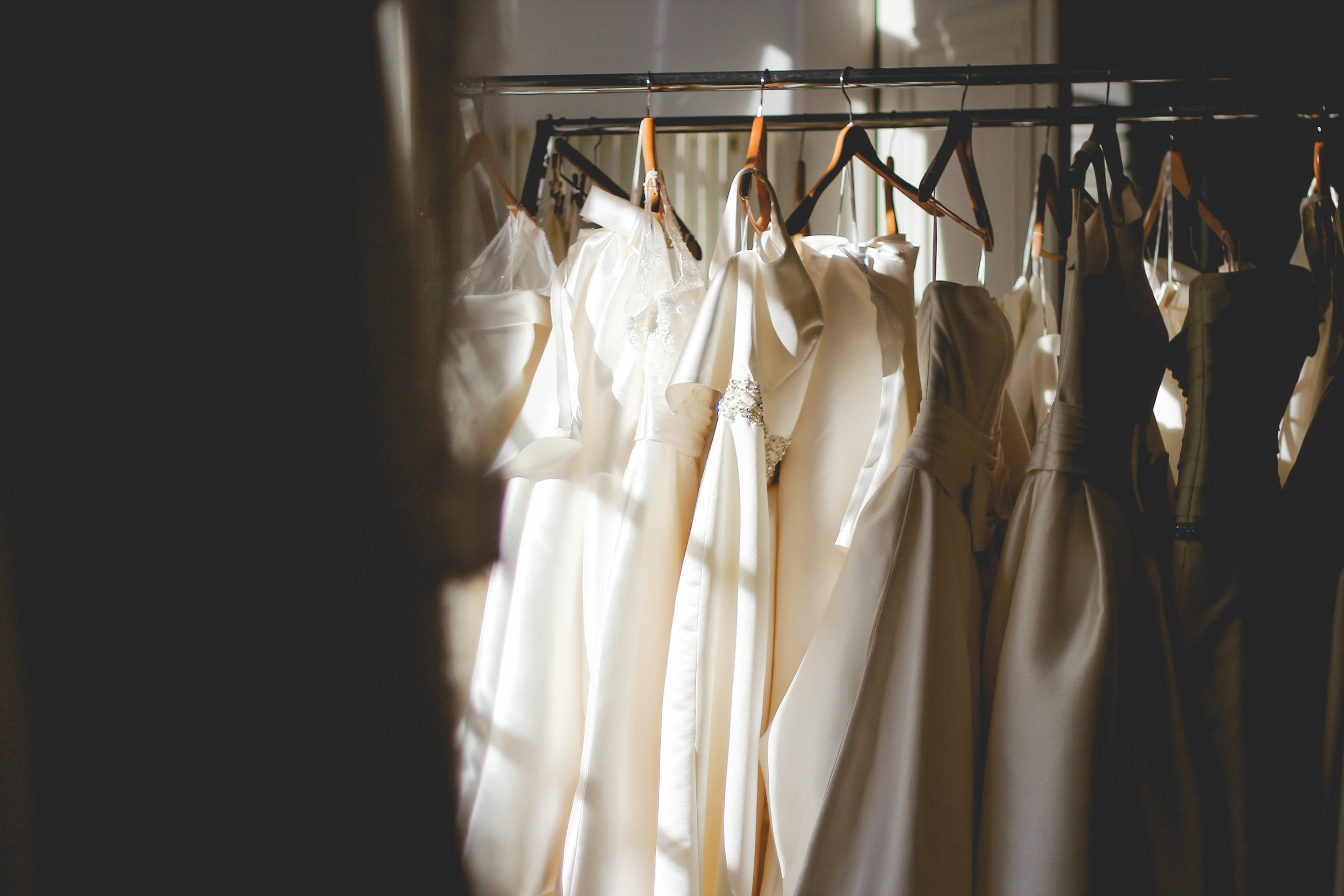 It's Clean and Always Organized - At Élsca, you don't need to worry about having to try on dirty or damaged wedding gowns. We pride ourselves in taking such special care of all of our pieces because we want you to feel like you get a real feel for the gowns that we offer.It's notorious that at some larger, corporate-owned bridal stores, they struggle with keeping their gowns clean just from the magnitude of the exposure to customers.