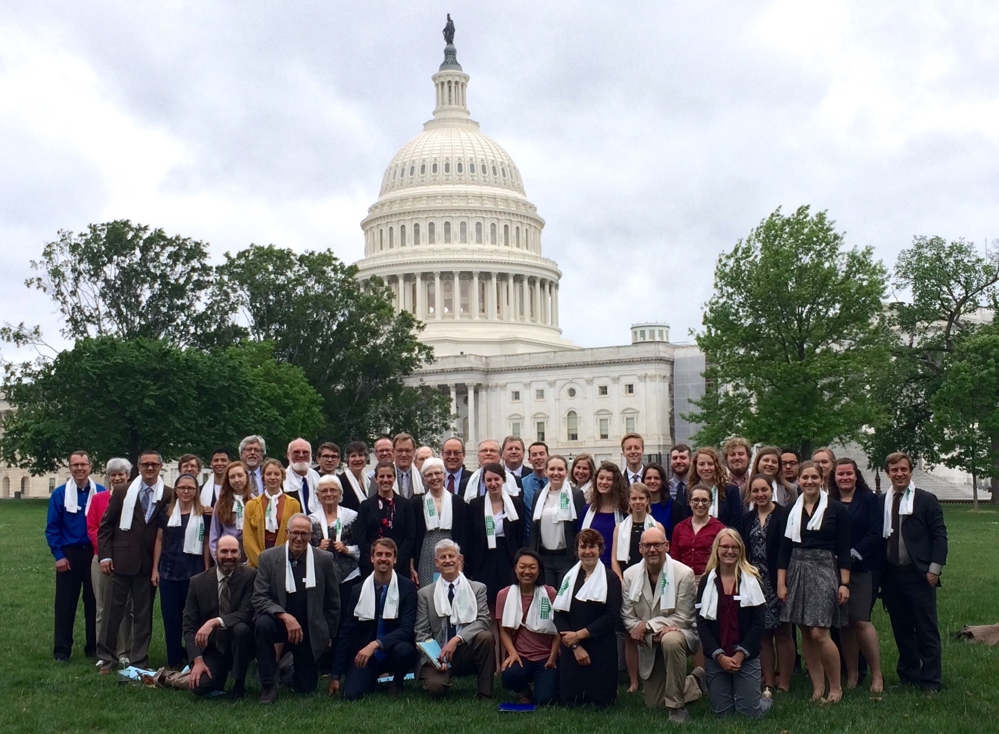 Acting in faith - In collaboration with Young Evangelicals for Climate Action and the Christian Reformed Church we led a team of 61 evangelicals to participate in the 2017 People's Climate March and to lobby Congress for action on climate.