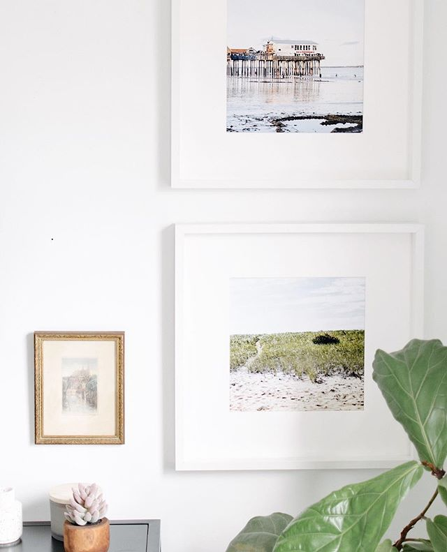 I quickly put these frames up to reveal the console table we put under the tv in the newly renovated guest room (which is now Nana's space). . I went to remove them figuring Nana didn't really want them up and she stopped me! Asked what I was doing and then went on to tell me she liked the pictures (which she undoubtedly can't see 😂). . I'll take that as a compliment of my photography and styling even if you can't really see it Nana 😂. Gotta take what you can get! . . . . . #bedroomvibes #bedroomview #bedroominspiration #guestroom #beachart #gallerywall #brightwhitewednesday #interiordesignsolutions #smallspacesquad #currentdesignsituation #beachphotography #styledshoot #mystylednest #blackandwhite #fiddleleaffig