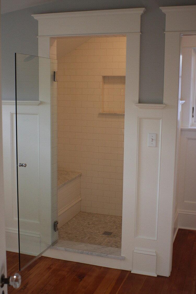 Framed Shower Opening Designed By Mccall Designs