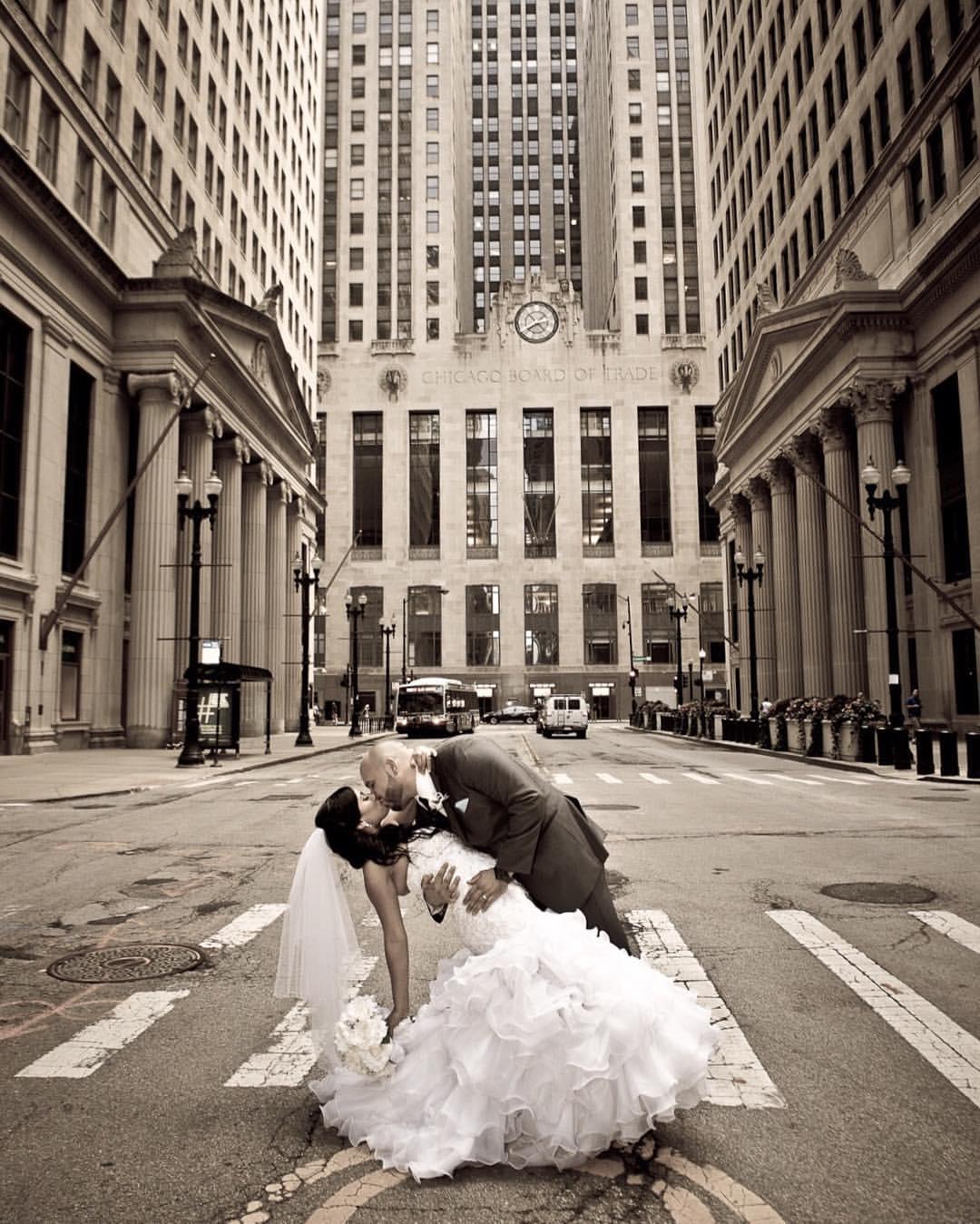 Wedding Day - Board of Trade - Chicago, IL