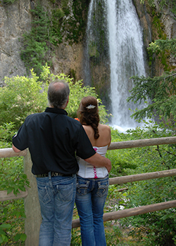 Biker wedding at Spearfish Falls