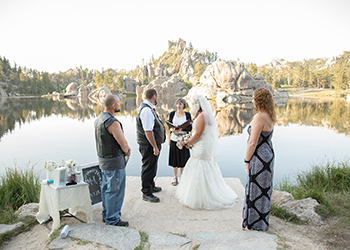 Rally wedding at Sylvan Lake
