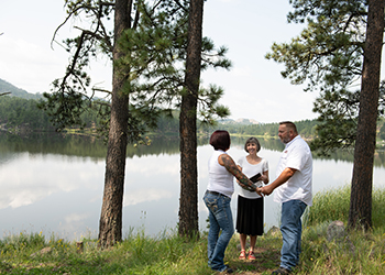 Tying the knot at Stockade Lake