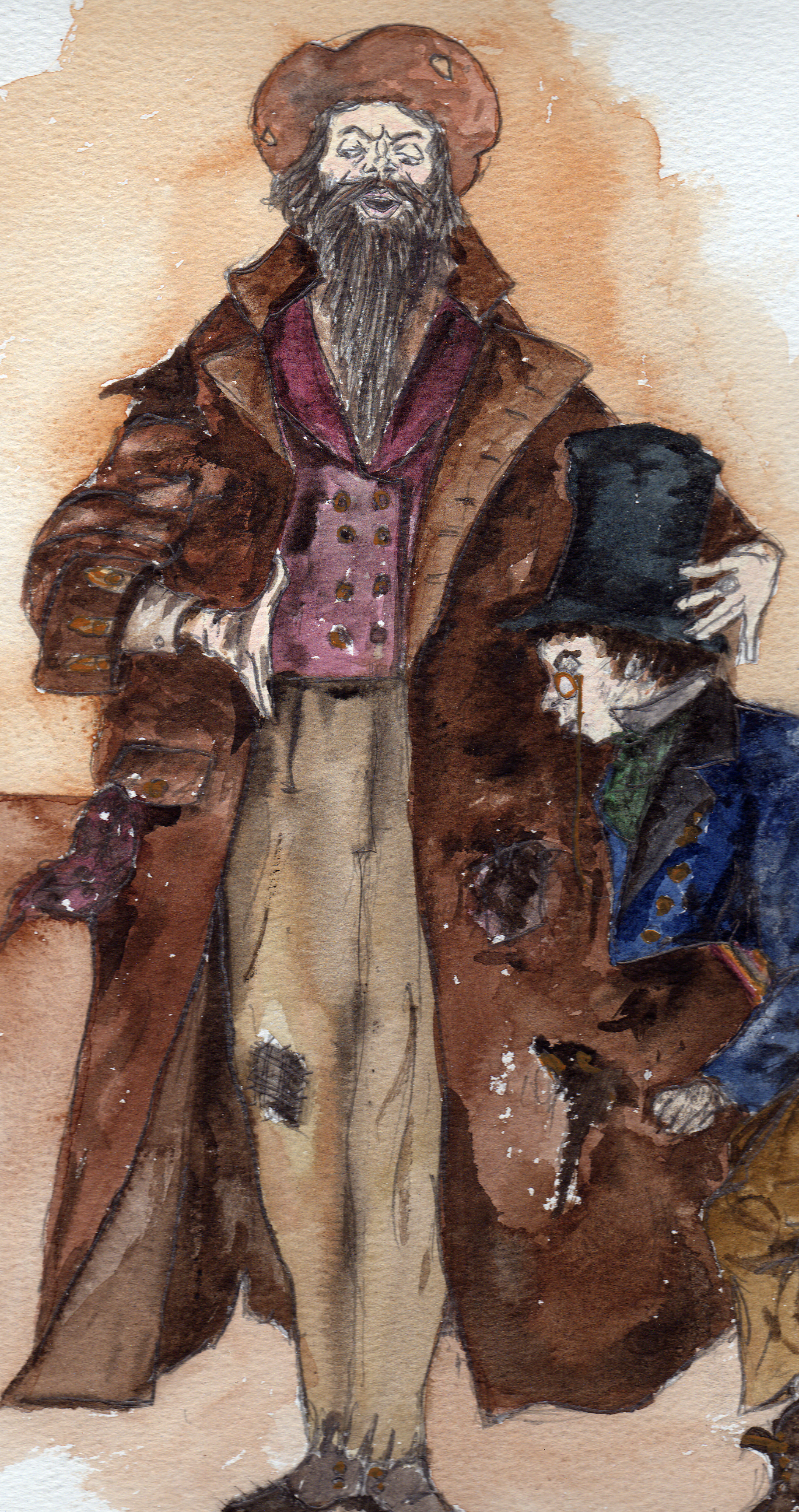Fagin and the Artfull Dodger from Oliver Twist general character illustration.jpg