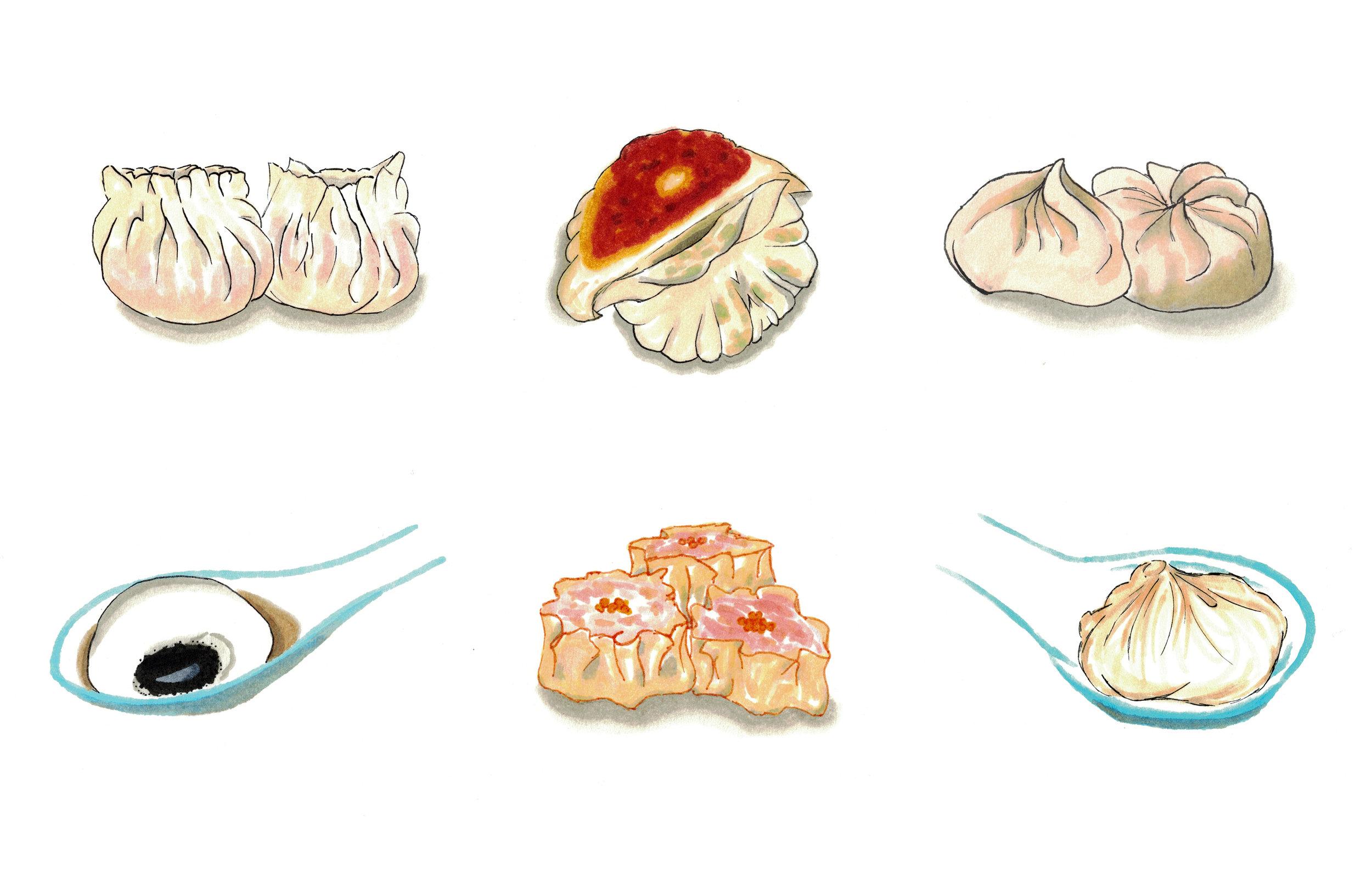Six kinds of dumplings for  SupChina.com