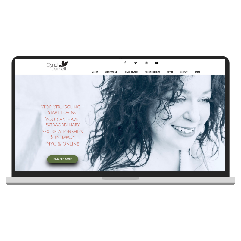 cyndidarnell.com - WordPress website redesign.