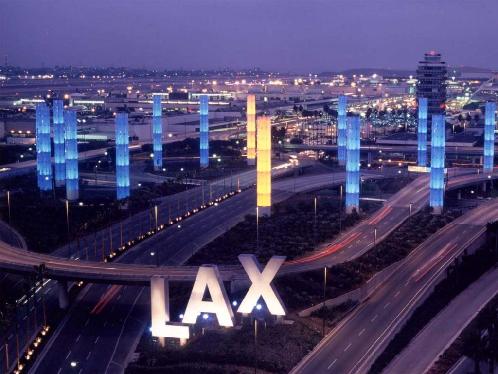 Los Angeles International Airport - LIght Pylons and monument signs