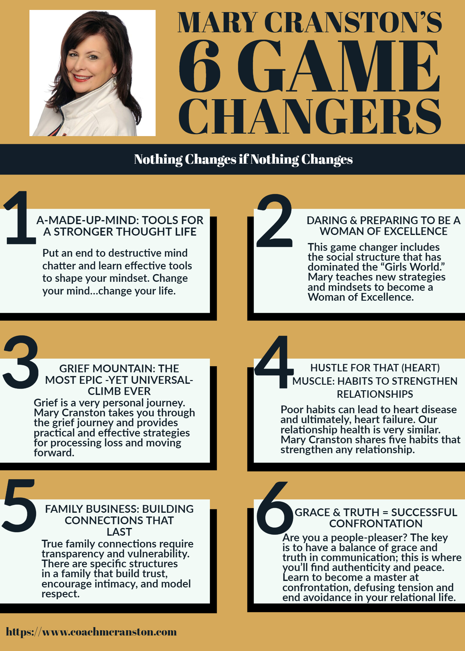 Life Coach Mary Cranston Six Game Changers 2019 front.png