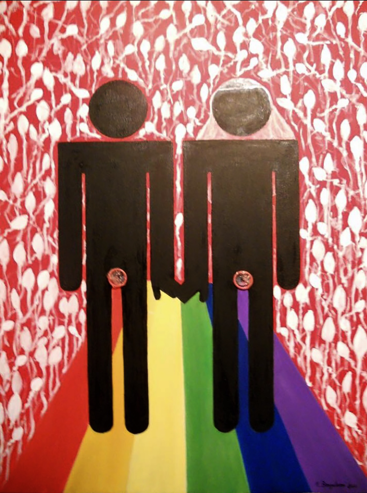 """Gay marriage - Oil on canvas 30""""x 40"""""""