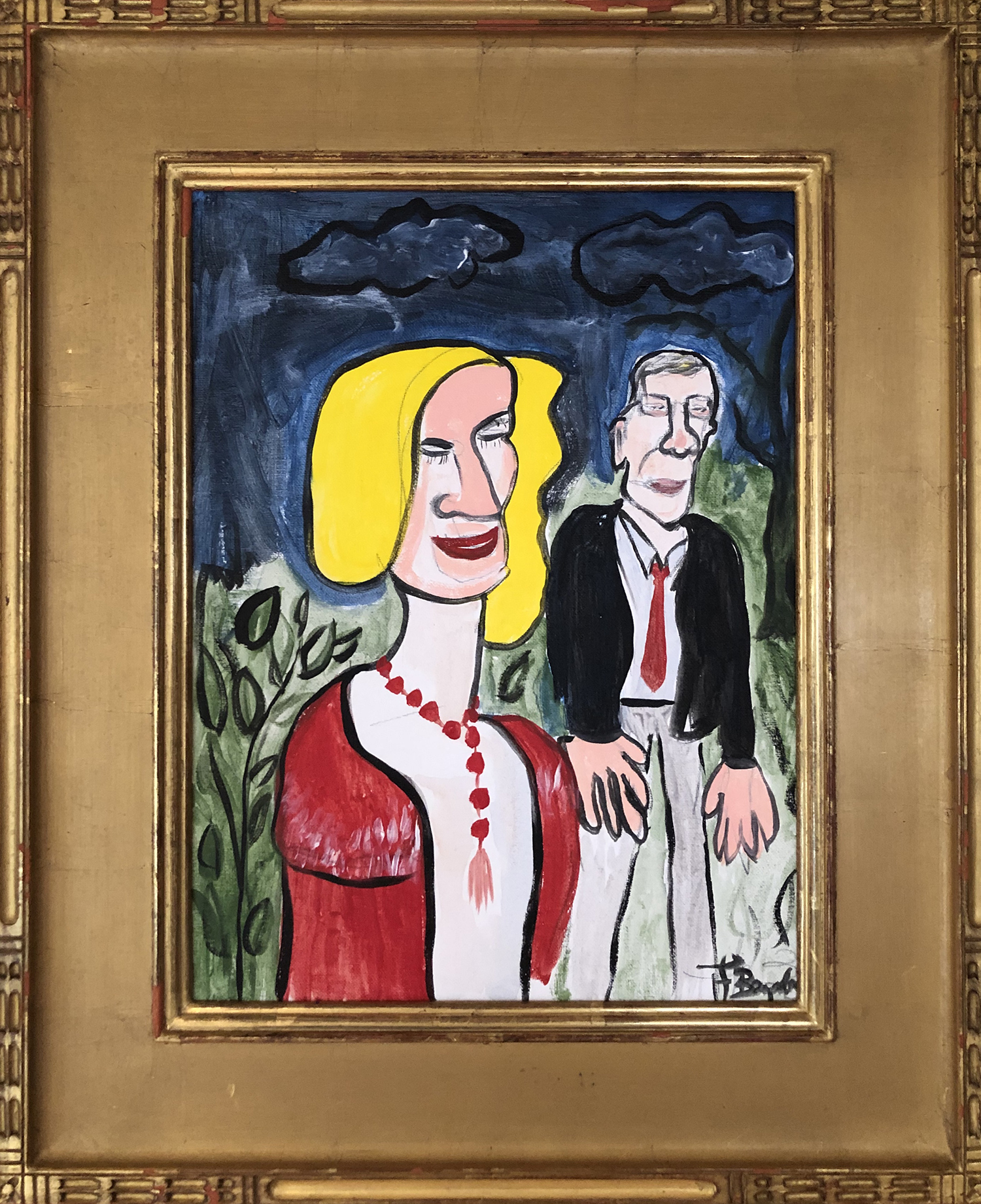 "Robert and Sheila - Acrylic on canvas 16""x 12"""